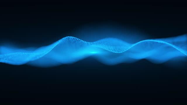 vídeos y material grabado en eventos de stock de abstract wavy digital technology mesh - seamless loop 4k - fila arreglo