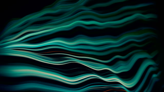 abstract wavy lines, internet flow, big data, connections - computer graphic stock videos & royalty-free footage