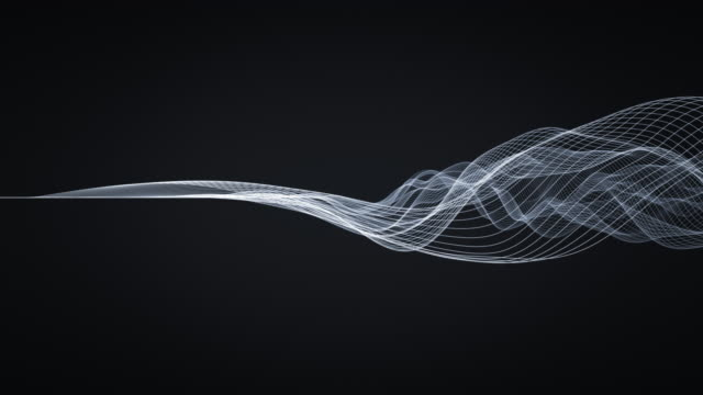 abstract wavy lines - light trail stock videos & royalty-free footage