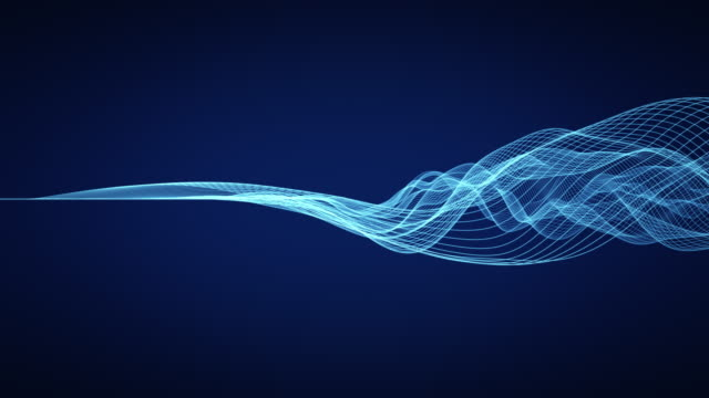 abstract wavy lines - sound wave stock videos & royalty-free footage