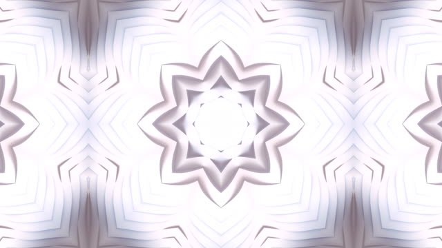 vídeos de stock e filmes b-roll de abstract white kaleidoscopic vj motion background. trendy line art wave bend background, great template for any purposes. 3d rendering. 4k, ultra hd resolution - topografia