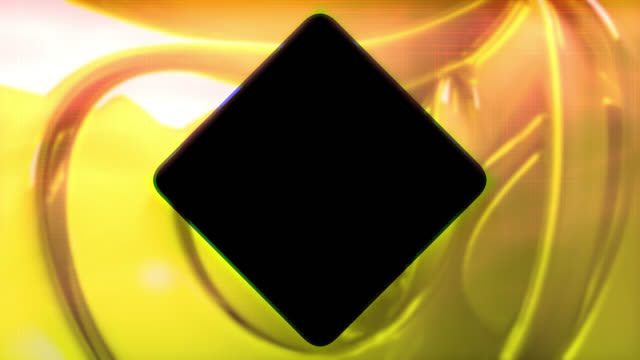 abstract yellow background with diamond shape in the center - design element stock videos & royalty-free footage