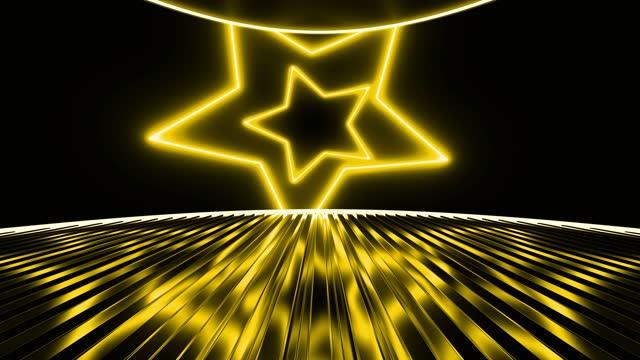 stockvideo's en b-roll-footage met achtergrond van het abstracte gele stervormgebied - star shape