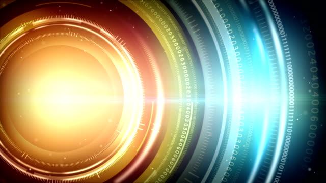 vídeos y material grabado en eventos de stock de luz abstracta de fondo, círculos digital - gráficos de movimiento