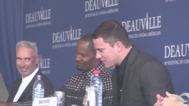 Abstracts of Channing Tatum and Jamie Foxx « White House down» press conference at the 2013 Deauville Film Festival   Deauville France 1st September...