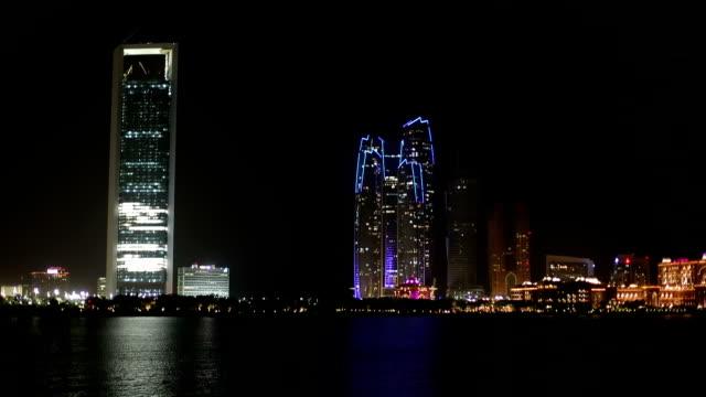Abu Dhabi skyline at night