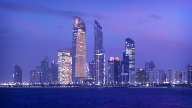 abu dhabi skyline timelapse - skyline stock videos & royalty-free footage