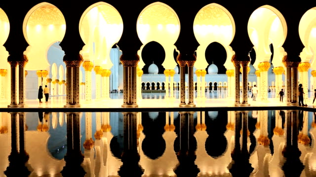 abu dhabi uae sheikh zayed bin sultan nahyan mosque - moschea video stock e b–roll