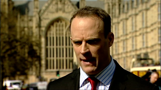 Government appeal bid rejected MPs reaction ENGLAND London EXT Dominic Raab MP interview SOT / Dominic Raab along / Yvette Cooper MP interview SOT