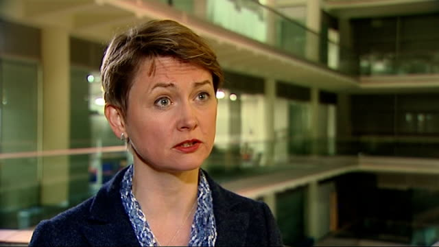 int yvette cooper mp interview sot home secretary needs to tell us urgently what she is going to do about national security implications of this... - アブ クアタダ点の映像素材/bロール