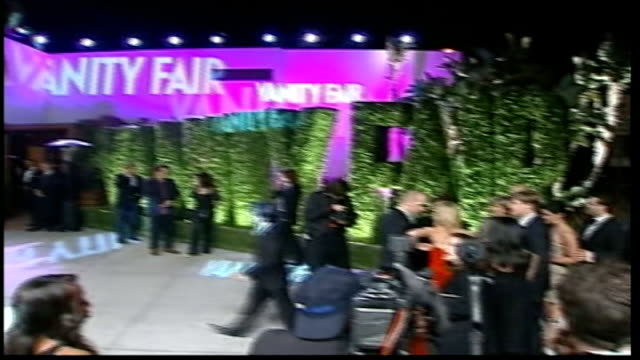 helen mirrren wins best actress award; general view of press gathered in front of entrance to vanity fair party **sheen interview partly overlaid... - helen mirren stock videos & royalty-free footage