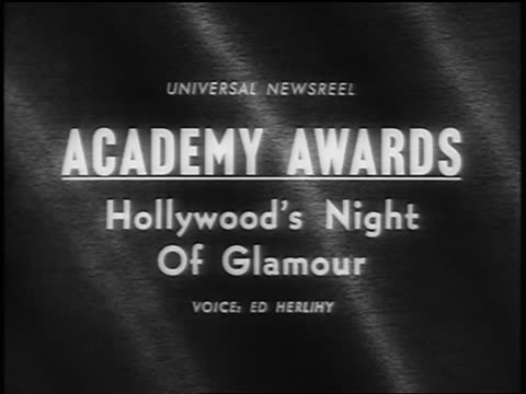 """academy awards. hollywood's night of glamour"""" / newsreel - film slate stock videos & royalty-free footage"""