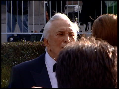 vanity fair oscars party; day kirk douglas and his wife anne arriving - wife stock videos & royalty-free footage