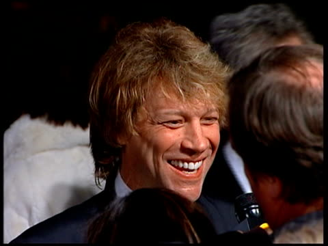 Vanity Fair Oscars Party Jon Bon Jovi speaking to press