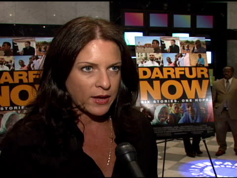 Academy Awardwinning producer Cathy Schulman talking about ways people can take action to help stop the genocide in Darfur how winning the Oscar for...