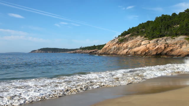 acadia national park - water's edge stock videos & royalty-free footage
