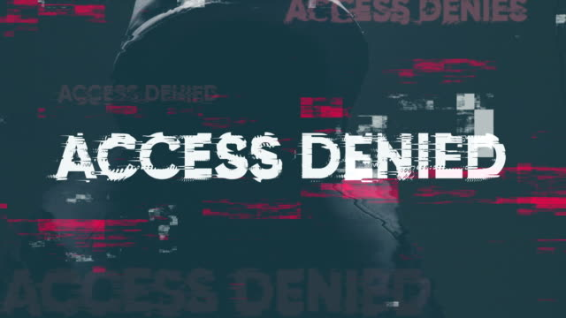 access denied - sicurezza di rete video stock e b–roll