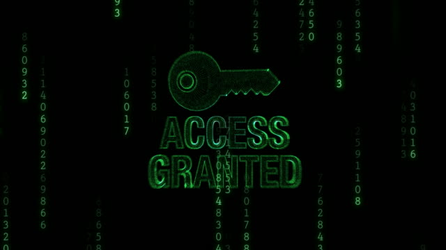 access denied with key - identity stock videos & royalty-free footage