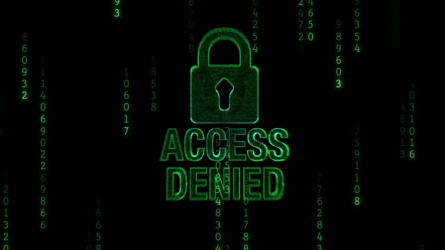 access denied with padlock - accessibility stock videos and b-roll footage