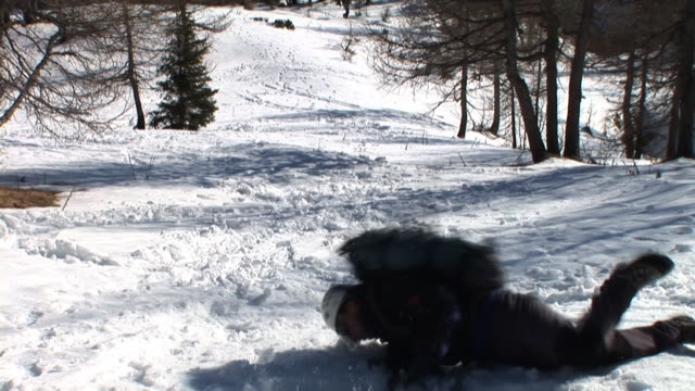 hd: accident in the mountains - physical injury stock videos and b-roll footage