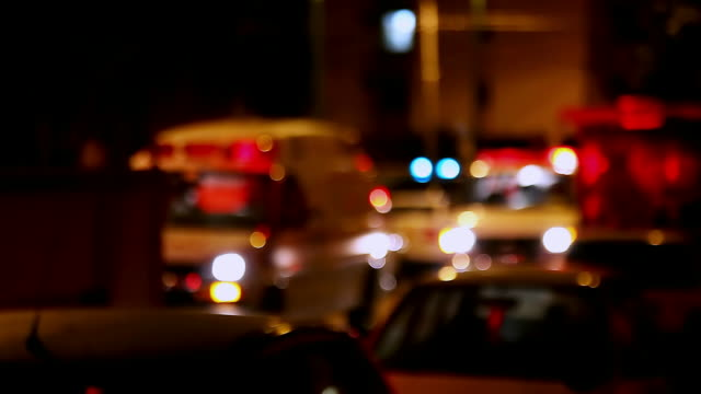 accident on night road - fire engine stock videos & royalty-free footage