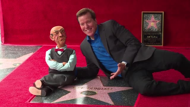 accompanied by his loyal puppet walt american ventriloquist jeff dunham receives a star in the live performance category on hollywood boulevard's... - ventriloquist stock videos and b-roll footage