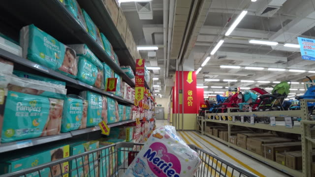 according to the financial report of the first quarter in 2017, total sales of wal-mart in china grows by 0.7%, the unit price increases 2.8%, and... - nappy stock videos & royalty-free footage