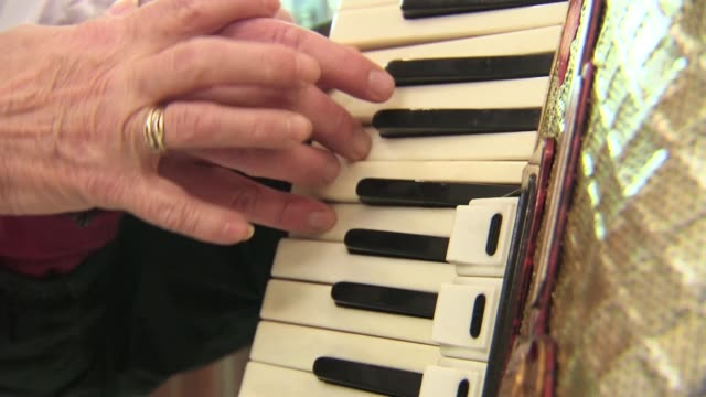 accordion lesson - piano key stock videos & royalty-free footage