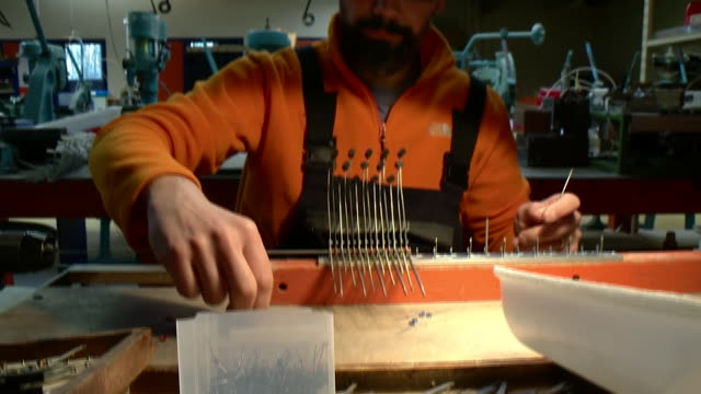 Accordions being created at a factory in France
