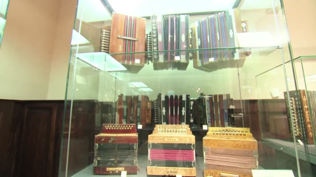 accordions in display cases - piano key stock videos & royalty-free footage
