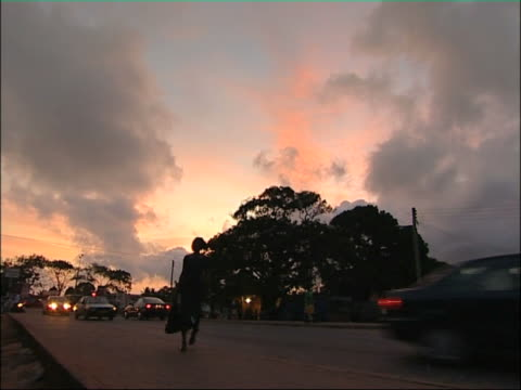 accra evening. - ghana stock videos & royalty-free footage