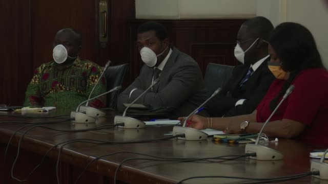 accra, ghana - mask-wearing politicians convene in parliament during coronavirus health crisis - ghana stock videos & royalty-free footage