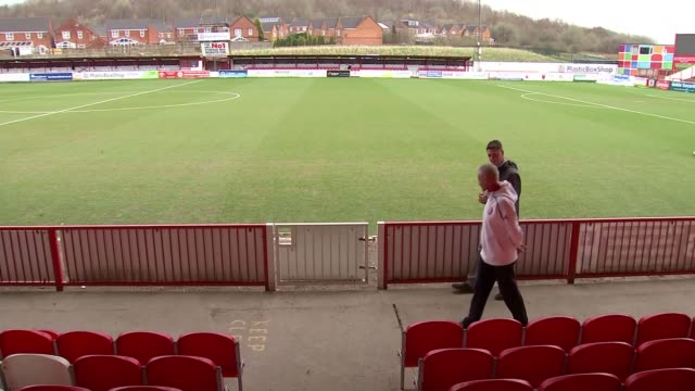 Accrington Stanley promoted to League 1 Nick Westwell along with reporter and interview SOT
