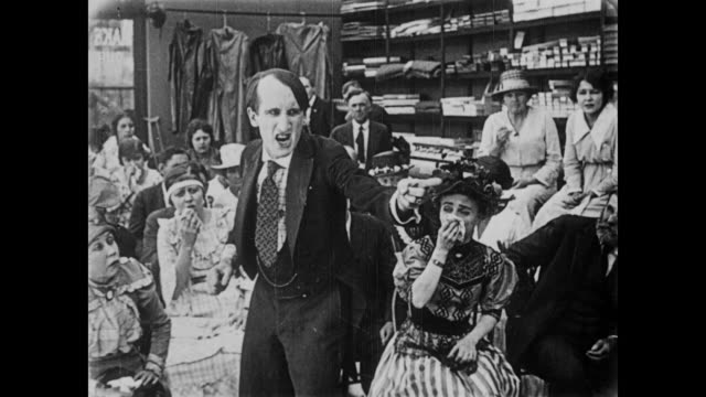 stockvideo's en b-roll-footage met 1919 accused man (fatty arbuckle) has bad breath - verwijten