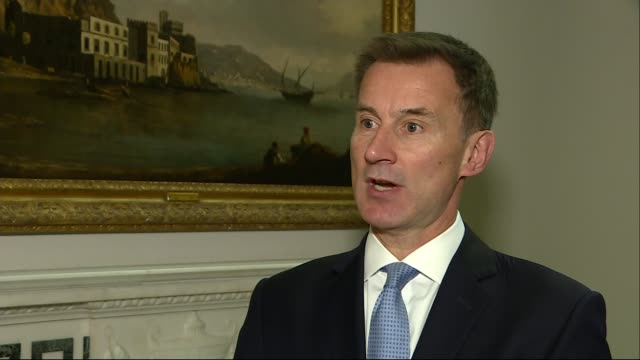 gru accused of cyber crimes worldwide england london int jeremy hunt mp interview sot here is the hard evidence of russian military activity but of... - gru点の映像素材/bロール
