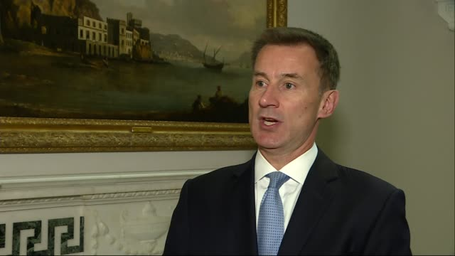 stockvideo's en b-roll-footage met gru accused of cyber crimes worldwide england london int jeremy hunt mp interview sot here you have evidence of the russian military launching a... - gru