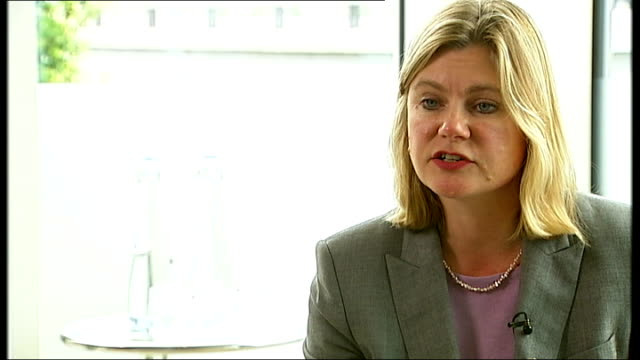 gchq accused of using american computer system to gather information on british citizens location unknown int justine greening mp interview sot need... - victoria tower stock-videos und b-roll-filmmaterial
