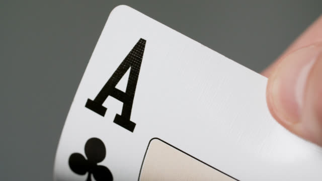 ecu ace of clubs playing card - luck stock videos & royalty-free footage