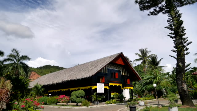 aceh traditional house. - stilt house stock videos & royalty-free footage