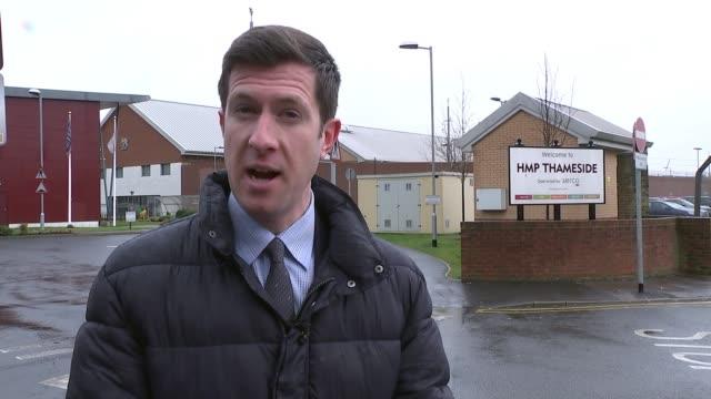 Acid attacker Arthur Collins admits hiding mobile phone inside crutch whilst in prison ENGLAND London HM Prison Thameside EXT Entrance to HM Prison...