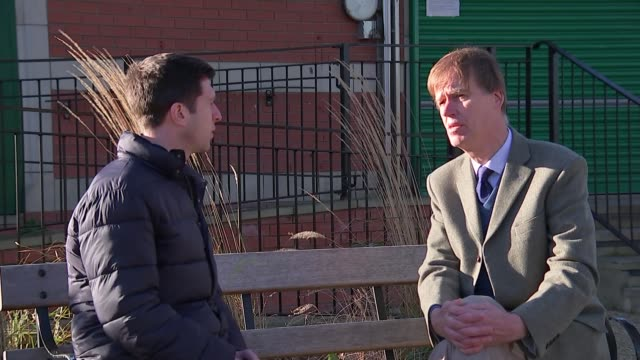 Retailers sign up to voluntary ban on sales to under 18s ENGLAND London EXT Stephen Timms MP set up shots / interview SOT