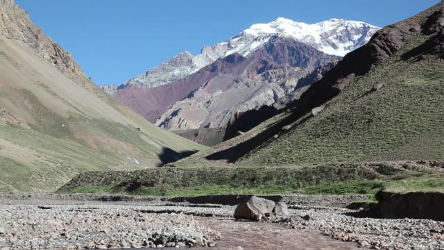 Aconcagua River and Mount Aconcagua Argentina