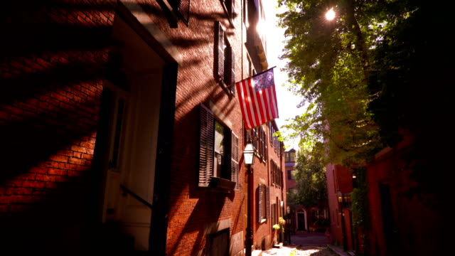 acorn street. boston - new england usa stock videos & royalty-free footage