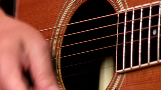 acoustic gitar player close up - fretboard stock videos and b-roll footage