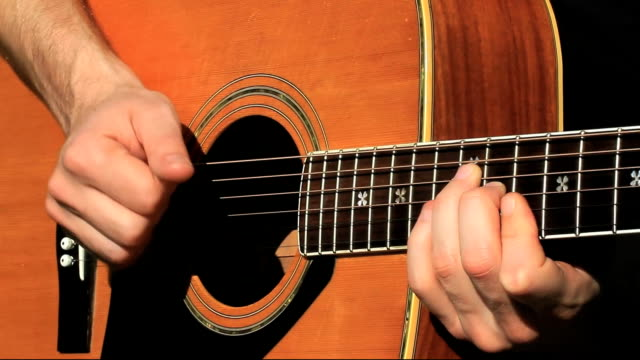 acoustic guitar finger picked - folk music stock videos and b-roll footage