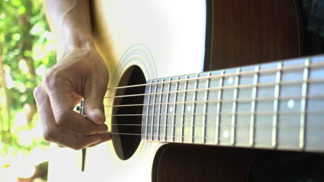acoustic guitar - musical symbol stock videos & royalty-free footage