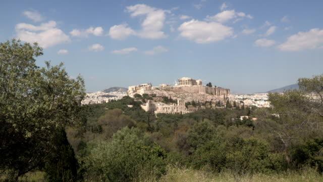 acropolis, athens, greece - acropolis athens stock videos & royalty-free footage