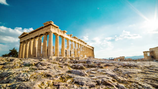 acropolis, athens - parthenon athens stock videos and b-roll footage