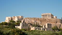 Acropolis in Athens, Greece, 4k Resolution.