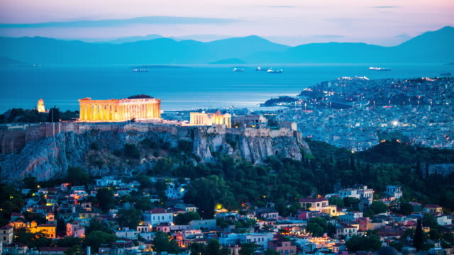 acropolis in athens, greece - athens greece stock videos & royalty-free footage
